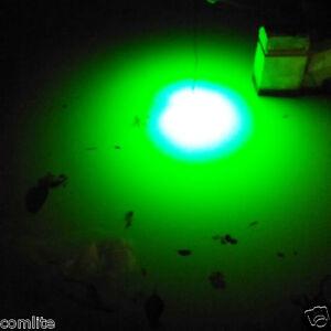 12v green blue white underwater led fishing light night for Fishing light attractor
