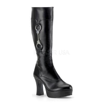 Kostümstiefel Polizistin Gothic-Stiefel Stiefel Boots Handschellen