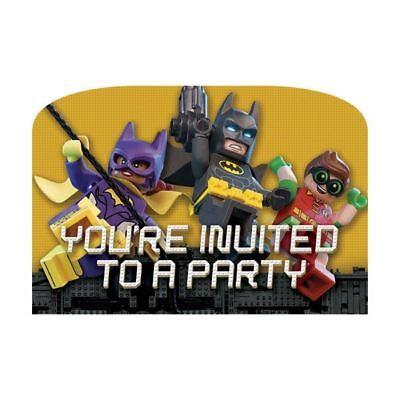 urtstagsparty Einladungen 8pk Einladungen mit Umschlägen (Batman Party-einladungen)