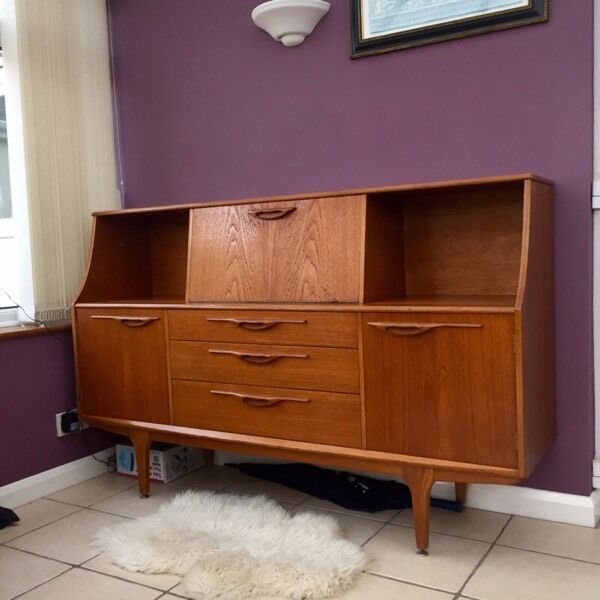 Retro jentique sideboard teak vintage danish style 60s 70s for Furniture 60s style
