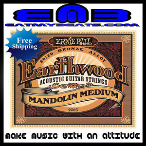Ernie-Ball-Earthwood-Mandolin-Medium-2065-Free-Shipping-80-20-Bronze-Alloy-NEW
