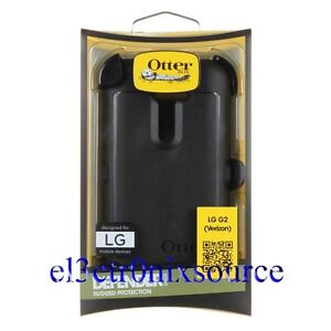New Otterbox Defender Case w/ Belt Clip Holster for LG G2 VERIZON ONLY - BLACK