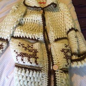 Vintage long wool cardigan