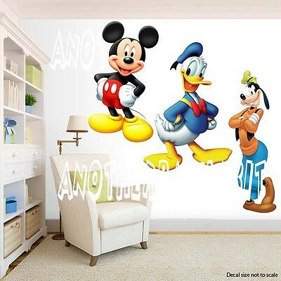 Mickey Mouse Room Decor (Mickey Mouse and Donald and Goofy Room Decor -  Wall Decal Removable)