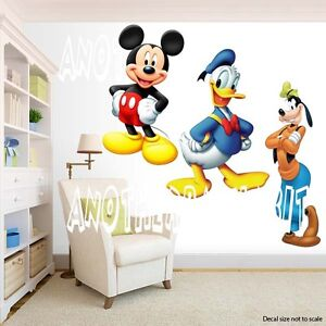Mickey Mouse and Donald and Goofy Room Decor -  Wall Decal Removable Sticker