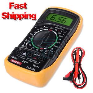 Electrical LCD Digital Multimeter Ohmmeter Multi OHM Tester AC DC Voltmeter