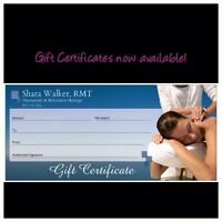 Gift certificates now available! $50 for 60min RMT massage