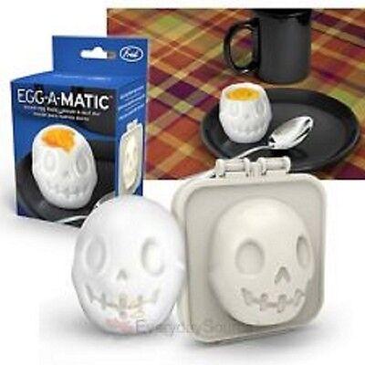 Halloween Boiled Eggs (NEW - EGG-A-MATIC SKULL BOILED EGG MOULD Kids Breakfast)