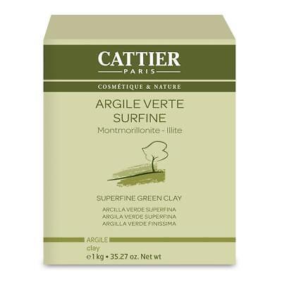 - Cattier Paris Superfine Green Clay 1 Kg - Facial Mask, Bath & Poultice - Natural