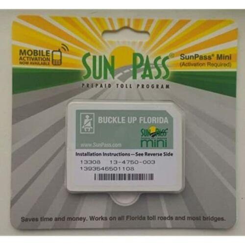 NEW SunPass Transponder Mini Sticker Pre-Paid Toll Program For Florida