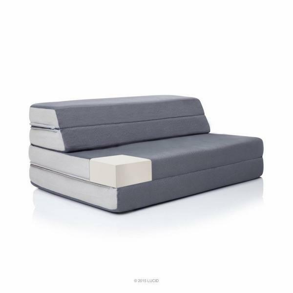 Lucid Comfort Collection 4 in. Premium High-Density Foam Que
