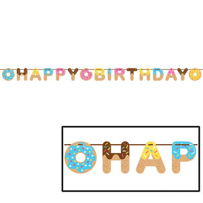 Donut Time Birthday Party Supplies  Banner - Birthday Donuts