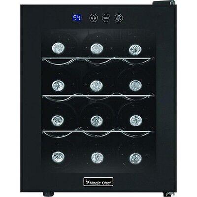 12 Bottle Wine Cooler Fridge Chiller Refrigerator Thermoelectric Freestanding