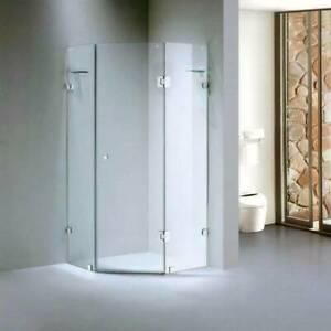 Bathroom Diamond Frameless Shower Screen Glass 900x900x2000 10mm