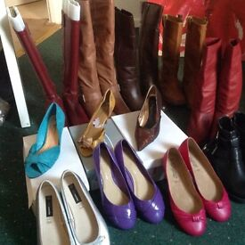 12 pairs boots and shoes