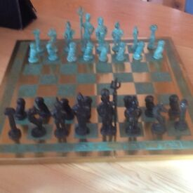 hand crafted in Greece chess set