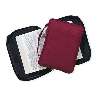 "Bible Cover Black or Maroon  7.75 x 10 x 1.5 "" Bible/Hymnal/Study Book Cover"