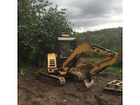 Cat 302.5c for hire with driver