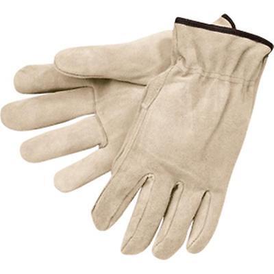 1 Pr Mens Medium Split Leather Work Truck Driving Drivers Work Gloves Mcr 3120