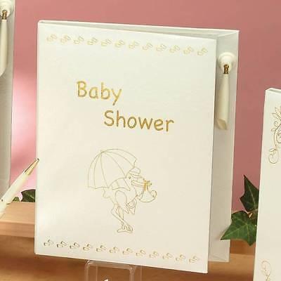 Baby Shower Guest Book Libro de Firmas Signature Gift w/ Pen Decoration Recuerdo