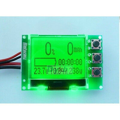 Capacity Tester Indicator for 0V-30V Lithium LiPo / LiIon Battery LCD Display