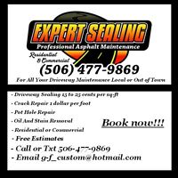 Expert Sealing - Residential & Commercial Driveway Maintenance!!