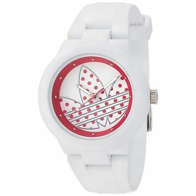 NEW ADIDAS WOMEN'S ABERDEEN WHITE SILICONE QUARTZ WATCH ADH3051