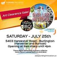Art Clearance Sale and Charity BBQ