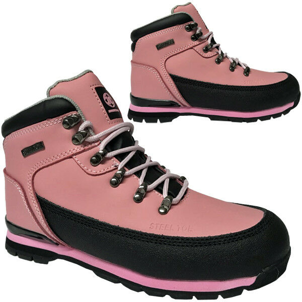 ** STEEL TOE CAP SAFETY BOOTS TRAINERS LIGHTWEIGHT BOOT SHOES WORK LADIES 3-9