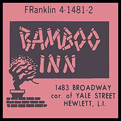 Bamboo Inn Hewlett Long Island, NY Fridge Magnet