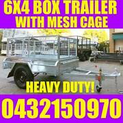 6x4 GALVANISED BOX TRAILER WITH CAGE HEAVY DUTY Clayton Monash Area Preview