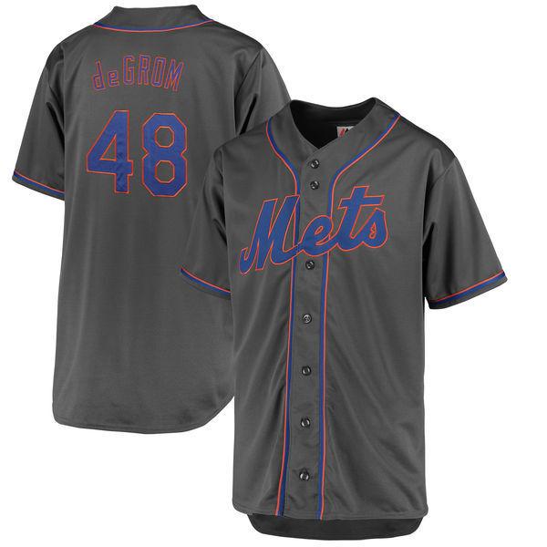 New York Mets MLB #48 deGrom Men's Charcoal Big & Tall Team