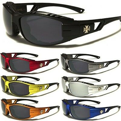 Choppers Men Padded Motorcycle Riding Sunglasses Biker Sports (Sunglass Pads)