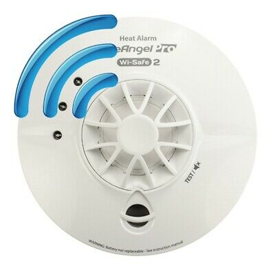 Mains Radio-Interlinked Heat Alarm with Back-up Battery - FireAngel Pro WHT-230