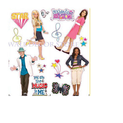 High School Musical Wall Decals - Girls Teens Disney Movie Bedroom Accessories