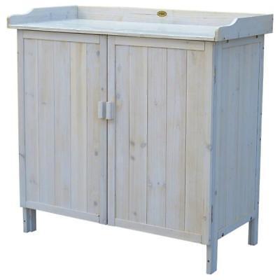 Pflanztisch / Gartentisch Habau mit Unterschrank Lino 98x48x95cm