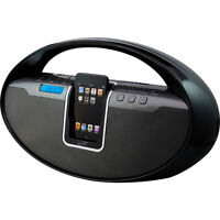 iLive IBCD2817DPBLK CD Boom Box with iPod Dock
