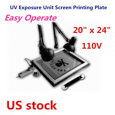 Us-uv Exposure Unit 20x 24 Screen Printing Plate Making Silk Screening Diy