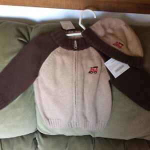Nice Gymboree NWT sweater and hat set for boys