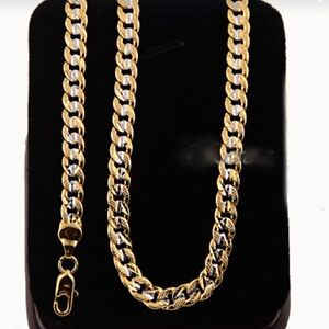 18k gold plated chain - chaine plauqer or