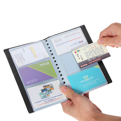 120 Cards Business Name Id Credit Card Holder Book Case Organizer Black