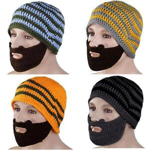 Knitted Beard and Hat Face Mask