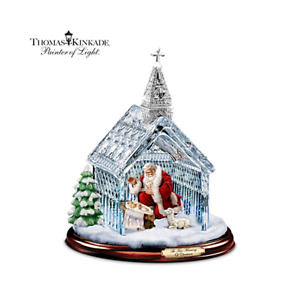 Looking 4 Thomas Kinkade Santa Nativity Crystal Chapel Sculpture