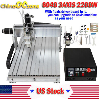 Cnc 6040 2200w 3axis Mach3 Usb Router Dsp Engraving Cutting Drilling Diy Machine