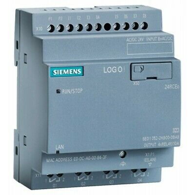Siemens Logo New Sealed 6ed1052-2hb08-0ba0 Logic Module 24vdc Usa Shipper