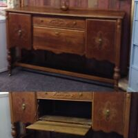 ANTIQUE SIDEBOARD with drop down front $345