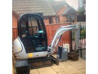 Mini and micro digger hire with driver