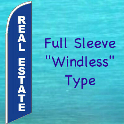 Real Estate Windless Feather Flag Tall Curved Advertising Sign Swooper Banner