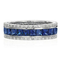 wedding, engagement set, DO YOU LOVE SAPPHIRES ?2 rings for the