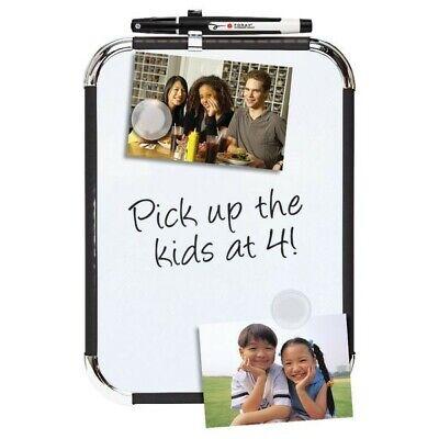 Office Depot Magnetic Dry-erase Board 8 12 X 11 White Board Black Plastic